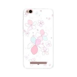 Funda Gel Tpu para Xiaomi Redmi 4A Diseño Flores-Minimal Dibujos