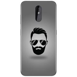Funda Gel Tpu para Nokia 3.2 diseño Barba Dibujos