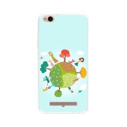 Funda Gel Tpu para Xiaomi Redmi 4A Diseño Familia Dibujos