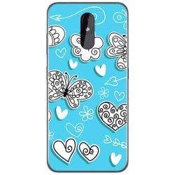 Funda Gel Tpu para Nokia 3.2 diseño Mariposas Dibujos