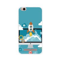 Funda Gel Tpu para Xiaomi Redmi 4A Diseño Cohete Dibujos