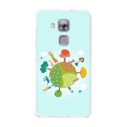 Funda Gel Tpu para Huawei Nova Plus Diseño Familia Dibujos