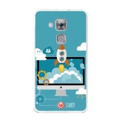 Funda Gel Tpu para Huawei Nova Plus Diseño Cohete Dibujos
