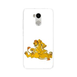 Funda Gel Tpu para Xiaomi Redmi 4 Pro Diseño Leones Dibujos