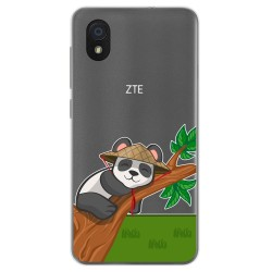 Funda Gel Transparente para Zte Blade A3 (2019) / L8 diseño Panda Dibujos