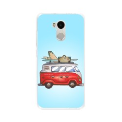 Funda Gel Tpu para Xiaomi Redmi 4 Pro Diseño Furgoneta Dibujos
