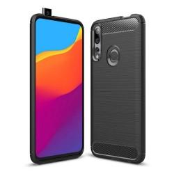 Funda Gel Tpu Tipo Carbon Negra para Huawei P Smart Z