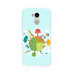 Funda Gel Tpu para Xiaomi Redmi 4 Pro Diseño Familia Dibujos
