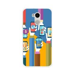 Funda Gel Tpu para Xiaomi Redmi 4 Pro Diseño Apps Dibujos