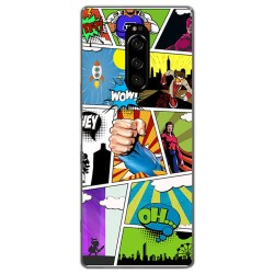 Funda Gel Tpu para Sony Xperia 1 diseño Comic Dibujos