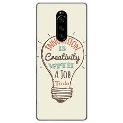 Funda Gel Tpu para Sony Xperia 1 diseño Creativity Dibujos
