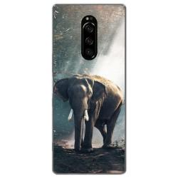 Funda Gel Tpu para Sony Xperia 1 diseño Elefante Dibujos