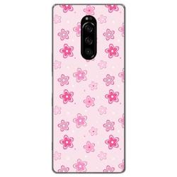 Funda Gel Tpu para Sony Xperia 1 diseño Flores Dibujos