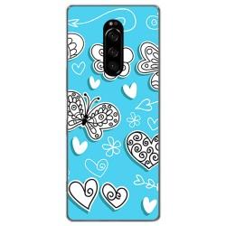 Funda Gel Tpu para Sony Xperia 1 diseño Mariposas Dibujos