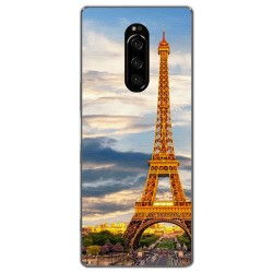 Funda Gel Tpu para Sony Xperia 1 diseño Paris Dibujos