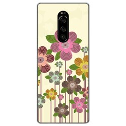 Funda Gel Tpu para Sony Xperia 1 diseño Primavera En Flor Dibujos