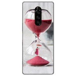 Funda Gel Tpu para Sony Xperia 1 diseño Reloj Dibujos