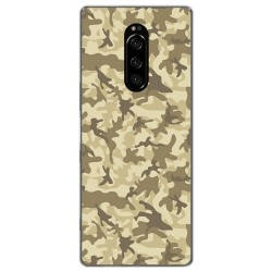 Funda Gel Tpu para Sony Xperia 1 diseño Sand Camuflaje Dibujos