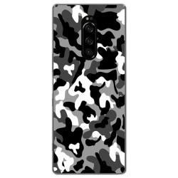 Funda Gel Tpu para Sony Xperia 1 diseño Snow Camuflaje Dibujos