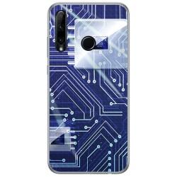 Funda Gel Tpu para Huawei Honor 20 Lite diseño Circuito Dibujos