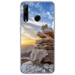 Funda Gel Tpu para Huawei Honor 20 Lite diseño Sunset Dibujos