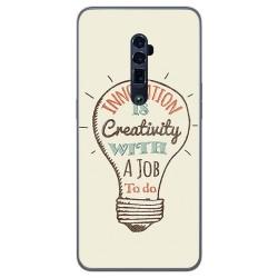 Funda Gel Tpu para Oppo Reno 10x Zoom diseño Creativity Dibujos