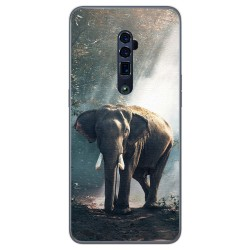 Funda Gel Tpu para Oppo Reno 10x Zoom diseño Elefante Dibujos