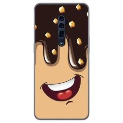 Funda Gel Tpu para Oppo Reno 10x Zoom diseño Helado Chocolate Dibujos