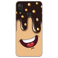 Funda Gel Tpu para Zte Blade V10 vita / Orange Neva Play diseño Helado Chocolate Dibujos