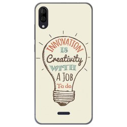 Funda Gel Tpu para Wiko Y80 diseño Creativity Dibujos