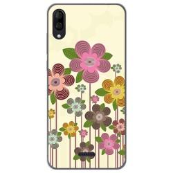 Funda Gel Tpu para Wiko Y80 diseño Primavera En Flor Dibujos