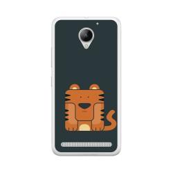 Funda Gel Tpu para Lenovo Moto C2 Diseño Tigre Dibujos