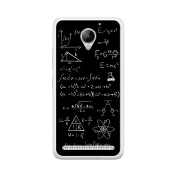 Funda Gel Tpu para Lenovo Moto C2 Diseño Formulas Dibujos