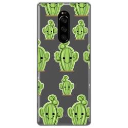 Funda Gel Transparente para Sony Xperia 1 diseño Cactus Dibujos