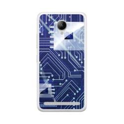 Funda Gel Tpu para Lenovo Moto C2 Diseño Circuito Dibujos