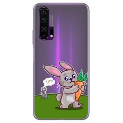 Funda Gel Transparente para Huawei Honor 20 Pro diseño Conejo Dibujos