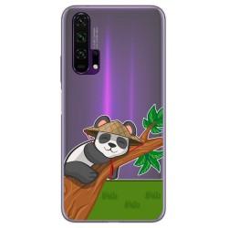 Funda Gel Transparente para Huawei Honor 20 Pro diseño Panda Dibujos