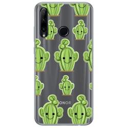 Funda Gel Transparente para Huawei Honor 20 Lite diseño Cactus Dibujos