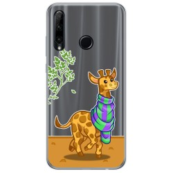 Funda Gel Transparente para Huawei Honor 20 Lite diseño Jirafa Dibujos