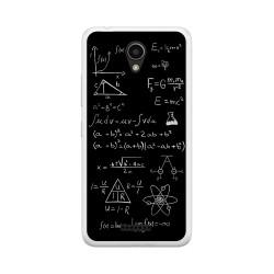 "Funda Gel Tpu para Lenovo Moto B 4,5"" 4G / A Plus Diseño Formulas Dibujos"
