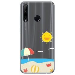 Funda Gel Transparente para Huawei Honor 20 Lite diseño Playa Dibujos