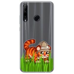Funda Gel Transparente para Huawei Honor 20 Lite diseño Tigre Dibujos