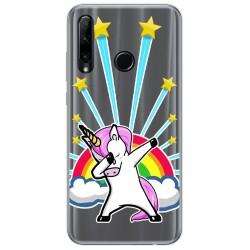 Funda Gel Transparente para Huawei Honor 20 Lite diseño Unicornio Dibujos