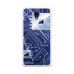 """Funda Gel Tpu para Lenovo Moto B 4,5"""" 4G / A Plus Diseño Circuito Dibujos"""