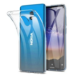 Funda Gel Tpu Fina Ultra-Thin 0,5mm Transparente para Nokia 2.2