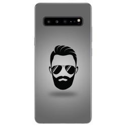 Funda Gel Tpu para Samsung Galaxy S10 5G diseño Barba Dibujos