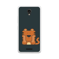 "Funda Gel Tpu para Lenovo Moto B 4,5"" 4G / A Plus Diseño Tigre Dibujos"