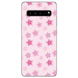 Funda Gel Tpu para Samsung Galaxy S10 5G diseño Flores Dibujos