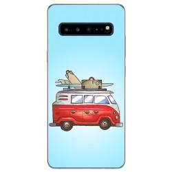 Funda Gel Tpu para Samsung Galaxy S10 5G diseño Furgoneta Dibujos