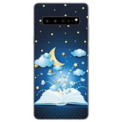 Funda Gel Tpu para Samsung Galaxy S10 5G diseño Libro Cuentos Dibujos